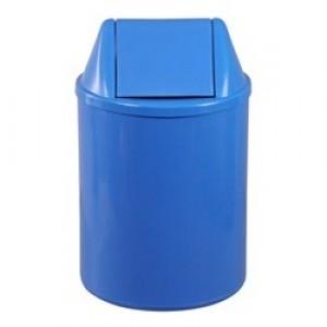 Cesto Lixo - Com Tampa - Plástico - 13 Litros - JSN - Azul