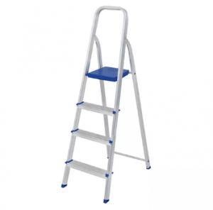 Escada De Alumínio - 04 Degraus - Mor