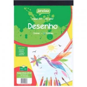Bloco Desenho A4 - Creme - Jandaia - 140 Gramas - 020 Folhas