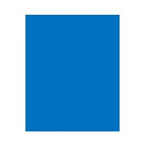 Capa Encadernação - Plástica - Fosco - Ofício - Azul - Plástico Líder