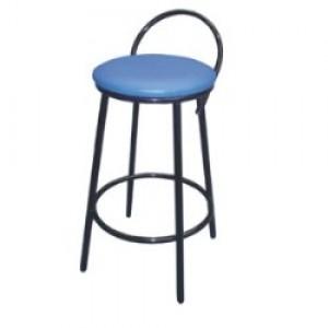 Banqueta Alta - Com Encosto Simples - Fixa - Assento Tecido - Móveis Gontijo