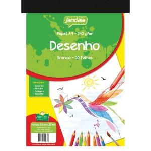 Bloco Desenho A4 - Jandaia - 140 Gramas - 020 Folhas