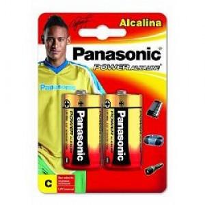 Pilha Alcalina - Média (C) - Com 02 - Panasonic