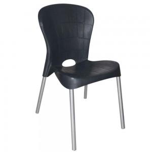 Cadeira Fixa - Montes Claros - Antares - Preta