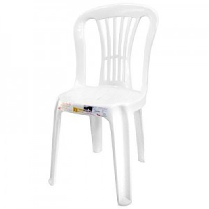 Cadeira Plástica - Bistro - Moderna - Branca