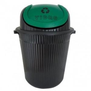 Cesto Lixo - Com Tampa - Plástico - 86 Litros - Antares - Verde