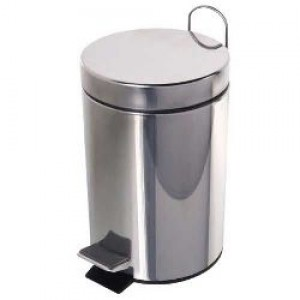 Cesto Lixo - Com Pedal - Metal - 05 Litros - Yins - Inox