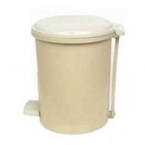Cesto Lixo - Com Pedal - Plástico - 15 Litros - Antares - Bege