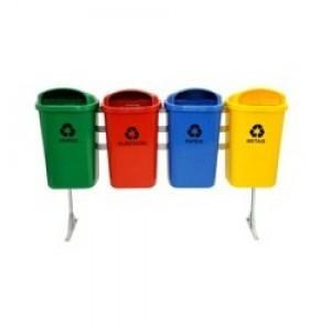 Cesto Lixo - Coleta Seletiva - Conjunto Com 04 - 050 Litros - Sem Tampa - JSN