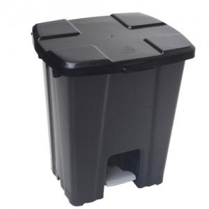 Cesto Lixo - Com Pedal - Plástico - 30 Litros - JSN - Preto