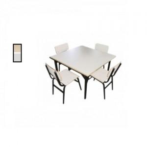 Conjunto Escolar - Adulto - 01 Mesa + 04 Cadeiras - MDF / Metalon - Móveis Gontijo