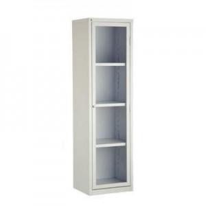 Armário De Aço - 01 Porta - 1,70 x 0,45 x 0,35 - Chapa 26 - Porta Vidro - Art Móveis