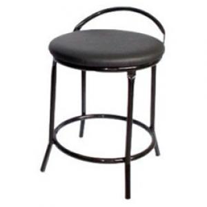 Banqueta Baixa - Com Encosto Simples - Fixa - Assento Tecido - Móveis Gontijo