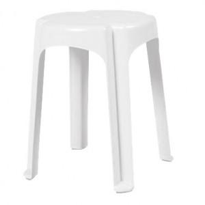 Banqueta Plástica - Baixa - Branca - Moderna