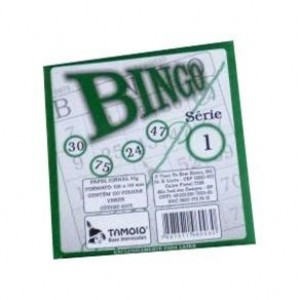 Bloco Bingo - Tamoio - Verde - 100 Folhas
