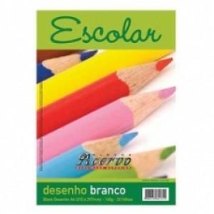 Bloco Desenho A4 - Vision - Branco - 063 Gramas - 050 Folhas