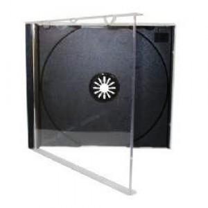 Caixa Box - CD - Acrílica - Fina - Transparente . Preto - Videolar