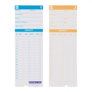 Impresso - Cartão De Ponto - 100 Folhas - Datafit - Dimecol