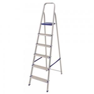 Escada De Alumínio - 06 Degraus - Mor