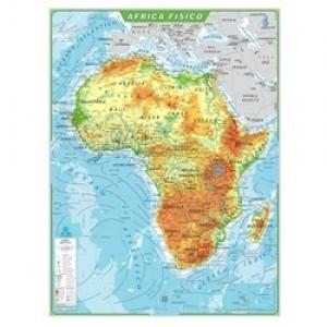 Mapa Telado - Continente - África - Físico - Geomapas