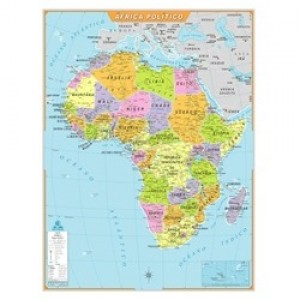 Mapa Telado - Continente - África - Político - Geomapas