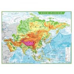 Mapa Telado - Continente - Ásia - Físico - Geomapas